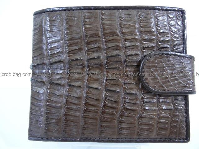 กระเป๋าสตางค์หนังจระเข้สำหรับผู้ชาย 1395