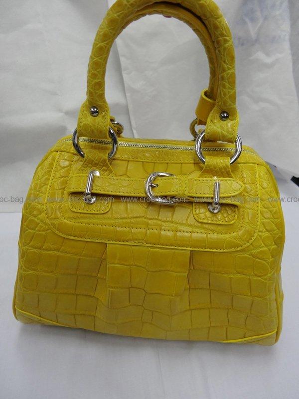 กระเป๋าถือหนังจระเข้สำหรับคุณผู้หญิง 428b