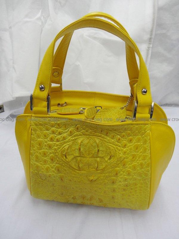 กระเป๋าถือหนังจระเข้สำหรับคุณผู้หญิง 490b