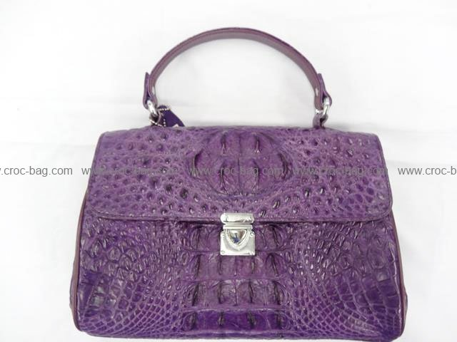 กระเป๋าถือหนังจระเข้สำหรับคุณผู้หญิง 526b