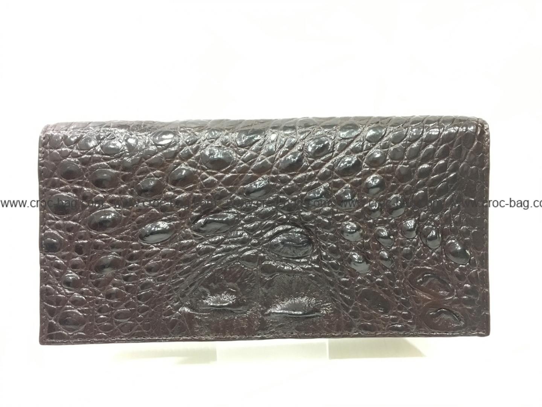 กระเป๋าสตางค์หนังจระเข้สำหรับผู้หญิง3410