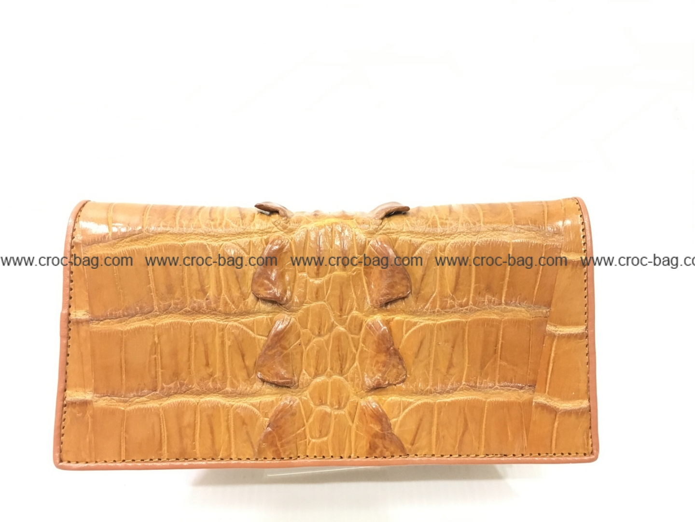 กระเป๋าสตางค์หนังจระเข้สำหรับผู้หญิง3411